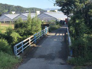 右に曲がり橋をお渡りください。