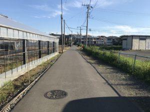 左手に富士山が見えます。